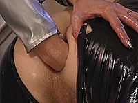 Latex guy deep anal fisting.